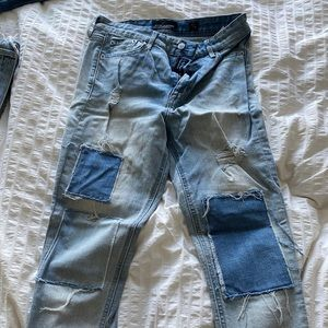 Lucky brand patch light wash jeans 👖